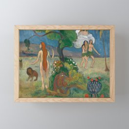 Paradise Lost by Paul Gauguin Framed Mini Art Print
