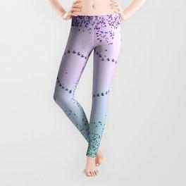 Mermaid Love Sparkling Glitter Hearts #1 #decor #art #society6 Leggings