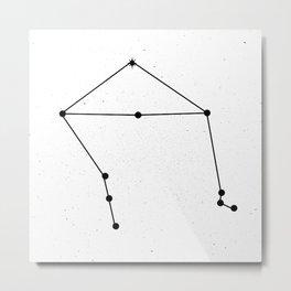 LIBRA (WHITE & BLACK) Metal Print