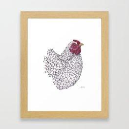 Wyandotte Chicken Framed Art Print