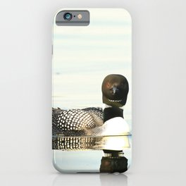 Loon reflection iPhone Case
