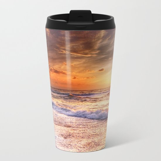 Burning Sea Metal Travel Mug