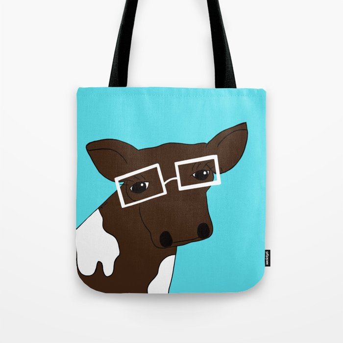 Matilda the Hipster Cow Tote Bag