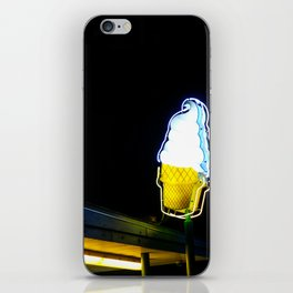 Ice Cream Cone Neon Sign iPhone Skin