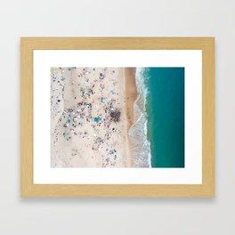 Sagg Main Beach Drummers Framed Art Print