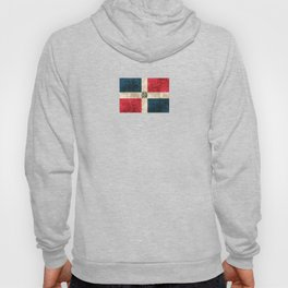 Vintage Aged and Scratched Dominican Flag Hoody