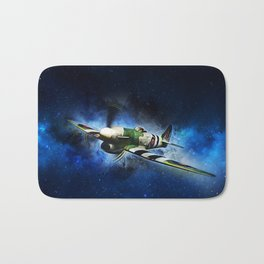 Spitfire Night Flight Bath Mat