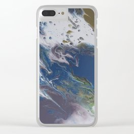 El Baile Fluid Abstract Clear iPhone Case