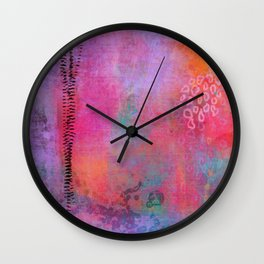 garden - abstract painting Wall Clock