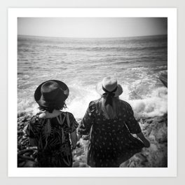 """Sisters on the Shoreline"" Holga photograph Art Print"