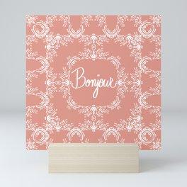 Bonjour - Autumn Peach Mini Art Print