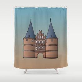 Holstentor Lübeck (FRG) Shower Curtain
