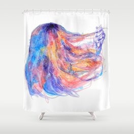 I will help you to overcome life's obstacles Shower Curtain