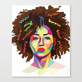 Afro WPAP Canvas Print