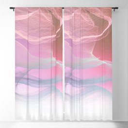 Flow Motion Vibes 1. Pink, Violet and Grey Blackout Curtain