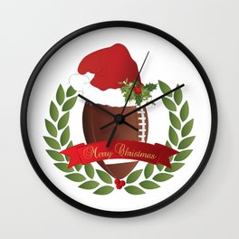 Football Christmas Design Wall Clock