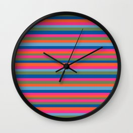 Fall Candy Stripes Wall Clock
