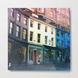 Streets of Edinburgh Metal Print