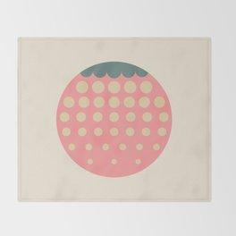strawberry    retro dusty Throw Blanket
