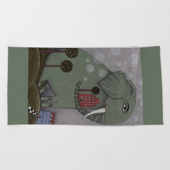 It's an Elephant! Beach Towel