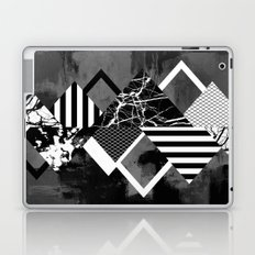 STAND OUT! In Black And White - Abstract, textured geometry! Laptop & iPad Skin