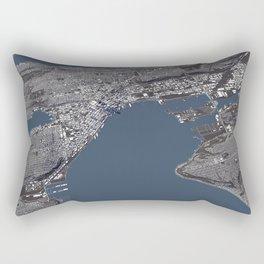 Seattle City Map II Rectangular Pillow