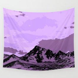 Chugach Mountains - EggPlant Pop Art Wall Tapestry
