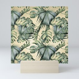 Palm Leaves Classic Linen Mini Art Print