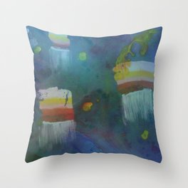 Cuboid Jellyfish Throw Pillow