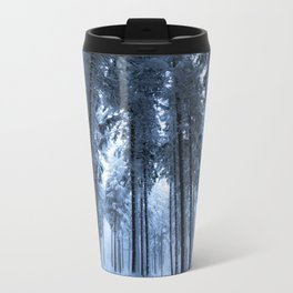 Snowy Winter Trees - Forest Nature Photography Metal Travel Mug