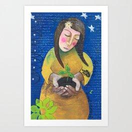 Grow Girl Art Print