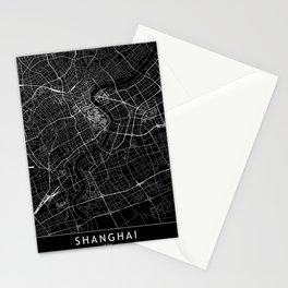 Shanghai Black Map Stationery Cards