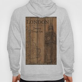 Vintage Travel Poster London 2 Hoody
