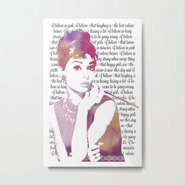 My Audrey Metal Print