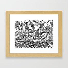 Jumbled London Framed Art Print
