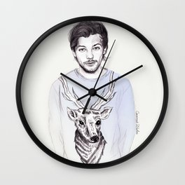 Louis and his deer Wall Clock