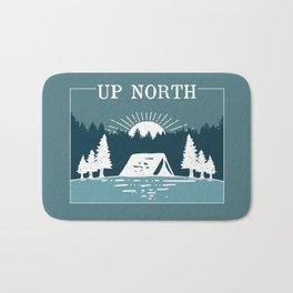 UP NORTH, camping Bath Mat