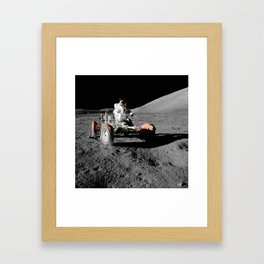 Apollo 17 - Moon Buggy Framed Art Print