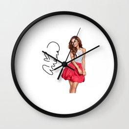 ArianaGrande t shirt Wall Clock