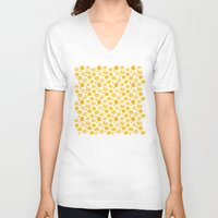 kansas V-neck T-shirts featuring Kansas Pattern by Timone