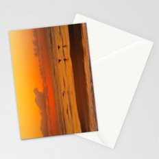 Four Pelican Sunrise Stationery Cards