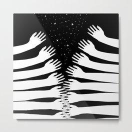 Zipper hand Metal Print