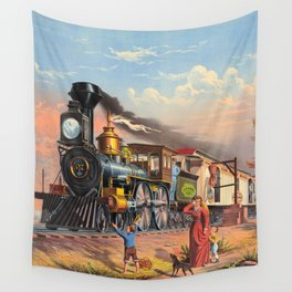The Fast Mail,  1875 Wall Tapestry