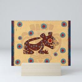 Mayan Baby Jaguar Folk Art Textile Mini Art Print