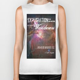 """""""Exploration is in Our Nature"""" Carl Sagan Quote Biker Tank"""