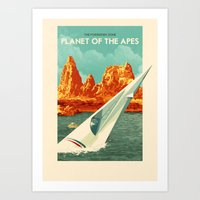 planet of the apes Art Prints featuring The Planet of the Apes by Rui Ricardo