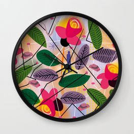 Yoga in the Park Wall Clock