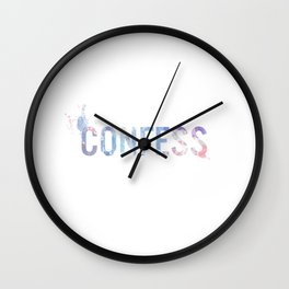 Confess Wall Clock