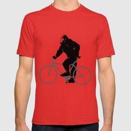 Bigfoot  riding bicycle T-shirt