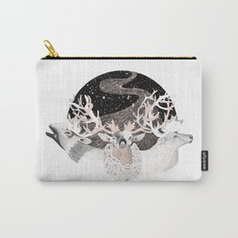 Foliage of Stars: Reindeer Moon Carry-All Pouch